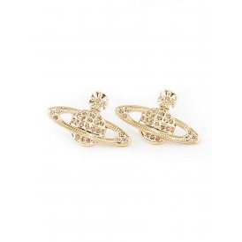 Vivienne Westwood Mini Bas Relief Gold Earrings ~ 0019-14-62