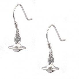 Vivienne Westwood Mini Orb 3D Sterling Silver Drop Earrings ~ MT12654