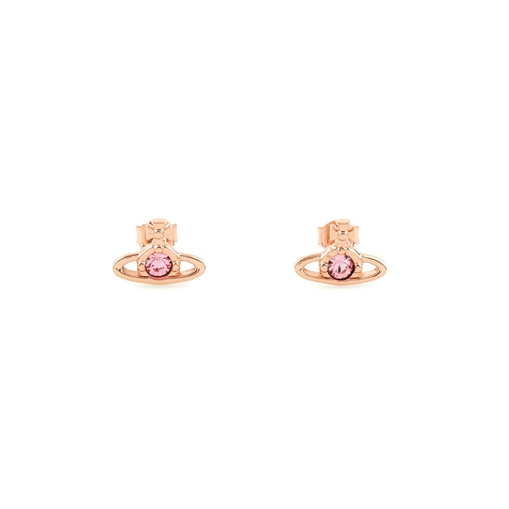 Vivienne Westwood Nano Solitaire Earrings Rose Gold