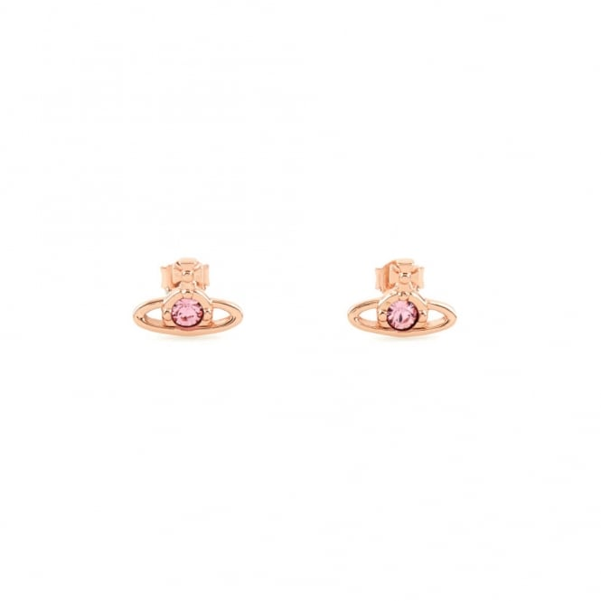Vivienne Westwood Nano Solitaire Earrings - Rose Gold ~ 724497B/4