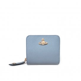 Vivienne Westwood Pimlico Medium Zip Wallet - Blue ~ 51080020