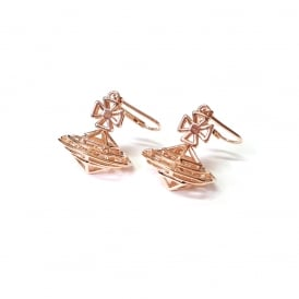 Vivienne Westwood Robbie Orb Earrings - Rose Gold ~ BE1569/2