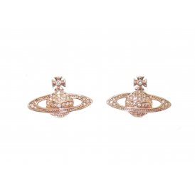 Vivienne Westwood Rose Gold Mini Bas Relief Earrings ~ 724535B/3