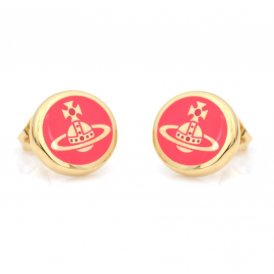 Vivienne Westwood Scarlett Yellow Gold and Neon Red Earrings