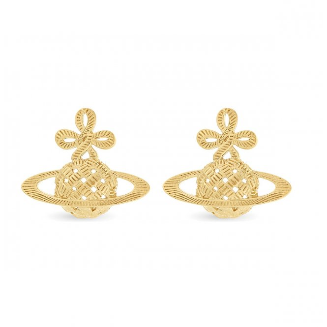 Vivienne Westwood Simone Bas Relief Earrings - Gold ~ BE1154/2