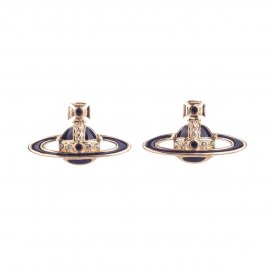 Vivienne Westwood Small Neo Bas Relief Earrings - Black/Gold ~ 724498B/5