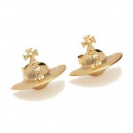 Vivienne Westwood Solid Orb Gold Earrings ~ 0489-14-03