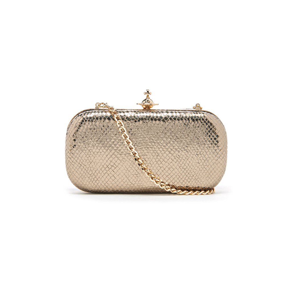 ef29e8f6bc75 Vivienne Westwood Verona Medium Clutch Bag - Gold ~ 131245-GLD ...