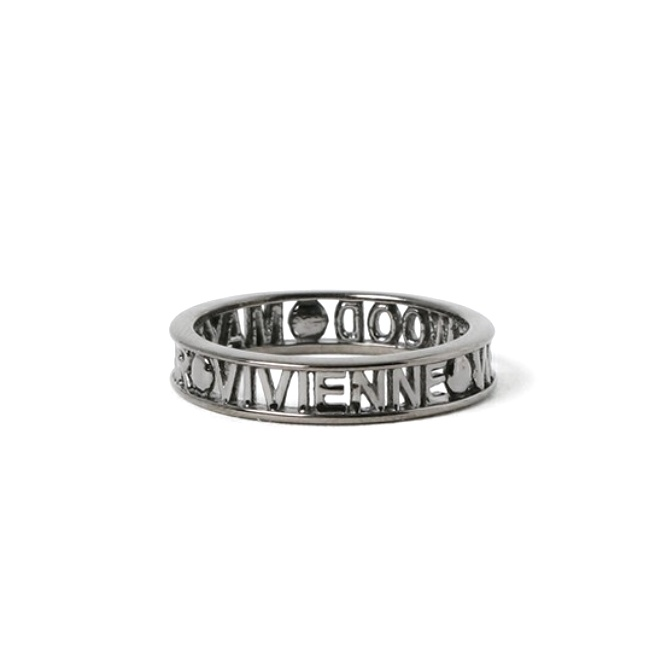 Vivienne Westwood Westminster Ring - Ruthenium - Medium ~ SR1212/4-M